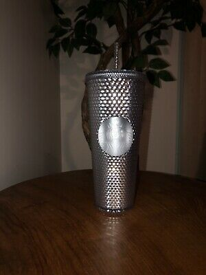 Limited Edition Starbucks Bling Platinum Studded Tumbler Winter Holiday 2019