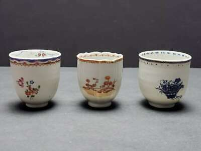 (3) Antique Chinese Export Porcelain Assorted Cups, 18Th Century