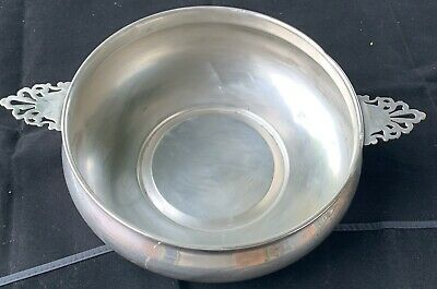 Antique Silver Plated Bowl with Handles  by The Sheffield Company Made in USA