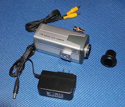 "New 1/3"" SONY CCD Video Microscope Camera Electronic FOR TV Eyepiece"