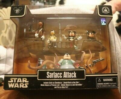 Sarlacc Attack Star Wars Mickey Minnie Donald Goofy Pete new unopened