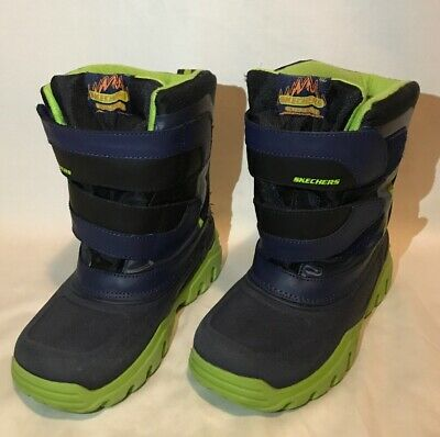 SKECHERS HIGH SLOPES Boys Boots Waterproof Winter Snow Rain
