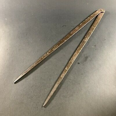 """Antique Hand Forged Iron 18"""" Blacksmiths Dividers Calipers Wheelwright Tools"""