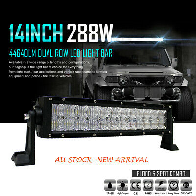 12 Inch Cree Led Light Bar Driving Work Super Slim Spot Flood Offroad 4WD