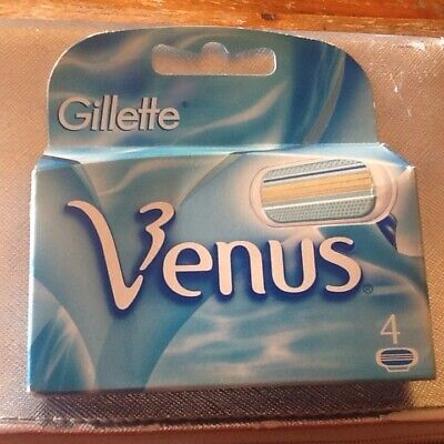 Original Gillette Venus Pack of 4 Replacement Razor Blades for woman (Gill011)
