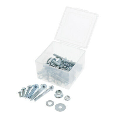 Metric Nut Screw And Bolt 60pcs Kit Assortment for Motorcycle Car Steel