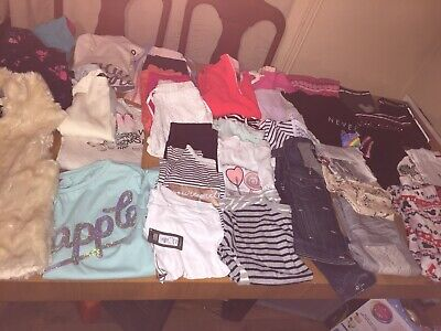 Girls Bundle Of Clothes Huge  38 Items Age 10 -11 Mickey Mouse