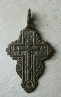 "RARE 16th CENT. HANDCARVED ORTHODOX ""OLD BELIEVERS"" BRONZE CROSS VERY RARE TYPE"