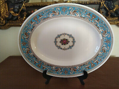 Wedgwood Florentine Turquoise 14 inch Oval Platter