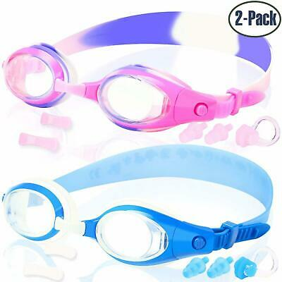 COOLOO 2-PACK Kids Swimming Goggles Junior Children Girls Boys Early Teens Age