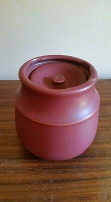 Stoneware lidded spice jar / ginger jar / coffee/tea caddy