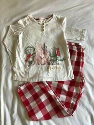 Girls M&S Christmas 'Tatty Teddy' Pyjamas Age 9-10 Years