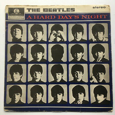 "BEATLES UK1st PRESS STEREO PCS 3058 ""A HARD DAY'S NIGHT"" STAMPS 2 & 3  S.I.U.K."