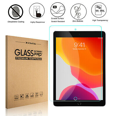 """For iPad 7th Generation 10.2"""" 2019 Film Premium Tempered Glass Screen Protector"""