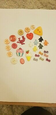 Super cute retro acryclic charms and button lot. Jewellery making DIY crafts