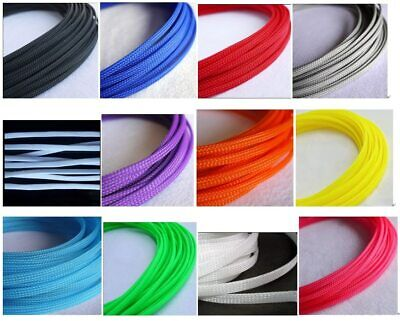 10M/Various Sizes & Colors Braided Cable Sleeving Auto Wire Harnessing Sheathing