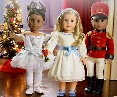 "American Girl The Nutcracker Prince Clara Snow Queen 18"" Doll Dress Outfits Set"