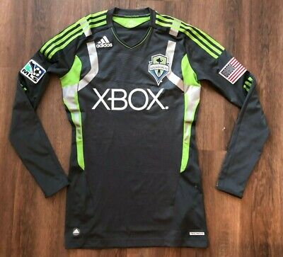 Adidas TECHFIT Seattle Sounders 2011/12 Away Jersey Authentic Long Sleeve sz 6