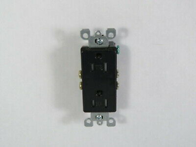 Leviton T5325-E Decorative Duplex Receptacle 15A 125V 3W 2P  USED