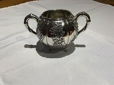 Antique Chinese Export Silver Bowl Luen Wo Shanghai circa 1890s