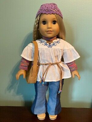 American Girl Julie Doll Meet Outfit. Historical Version Pierced Ears Earrings