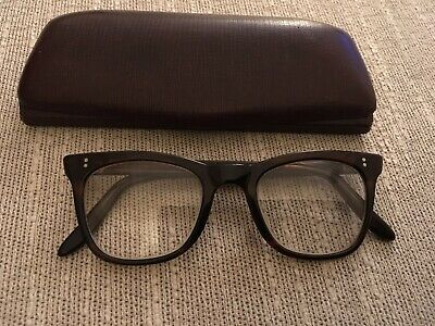 Original Vintage Small NHS Made In England Brown Tortoiseshell & Glasses Case