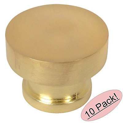 10 Pack - Cosmas 704BB Brushed Brass Round Contemporary Cabinet Hardware Knob -