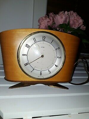 Vintage metamec Electric mantle clock 1940/50s glass dome face UNTESTED