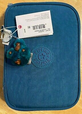BNWT Kipling 100 Pens Case Makeup Chargers Headsets Flash drives Gleaming Green