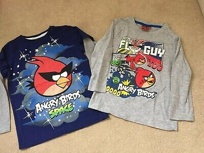 Next Boys Angry Birds Long Sleeve Tops Bundle Size 4 Years New!