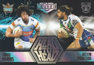 2019 NRL ELITE HEAD TO HEAD - HH5 KEVIN PROCTOR vs TOHU HARRIS - #09 OF ONLY 61
