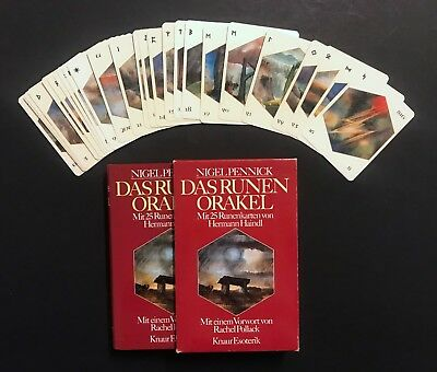 Haindl Rune Oracle Fortune Telling Cards Deck Book Set Knaur Verlag