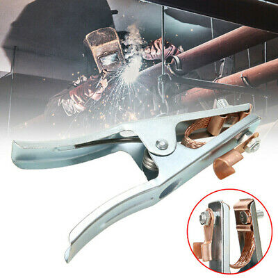 300A 500A 800A Earth Ground Cable Clip Clamp Welding Electrode Holder Tool MR