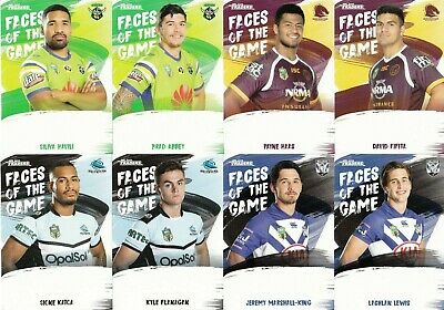 2019 Nrl Traders Faces Of The Game Trading Cards - Full Set Of 64