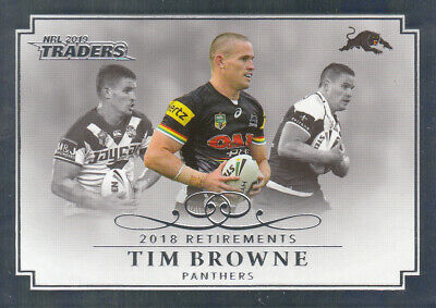 2019 Nrl Traders Retirement Parallel Case Card Rp10 Tim Browne Panthers #50 / 50