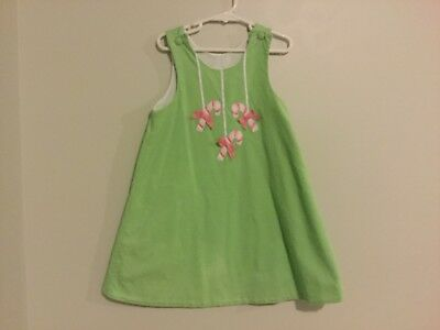 Girls Mini Boden Dress Size 9/10 And Old Navy Chambray Jumper L 10/12