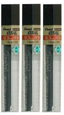 Pentel 0.5mm Size HB Shade Hardness Pencil Refill Replacement Spare Leads Hi...