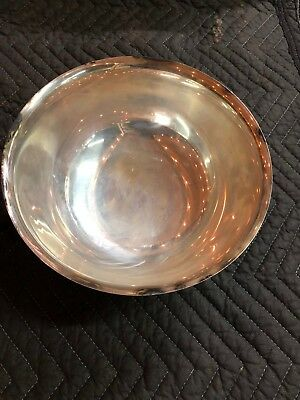 "Vintage Silver-Plated Bowl Webster Wilcox International Silver Co. 9""x4 1/2"""