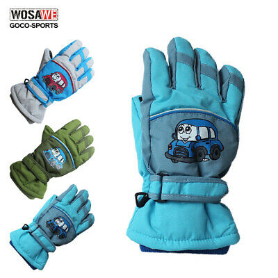 Children Kids Winter Snow Warm Gloves Boys Girls Ski Snowboard Wind/Waterproof