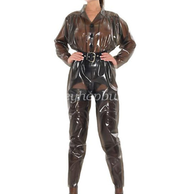Latex Rubber Braun Catsuit Sports Fashion Bodysuit Unisex Cool Gummi Ganzanzug