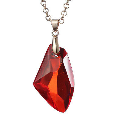 Sorcerer Philosopher's Magic Stone Necklace Red Acrylic Pendant Potter Jewelry