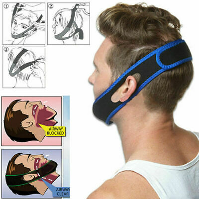 Anti Snore Aid Sleep Apnea Stop Snoring Strap Belt Jaw Solution Chin Support Ace