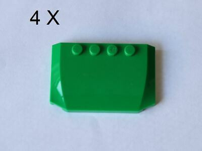 LEGO® Red 4 x 6 x 2//3 Triple Curved Part No 52031