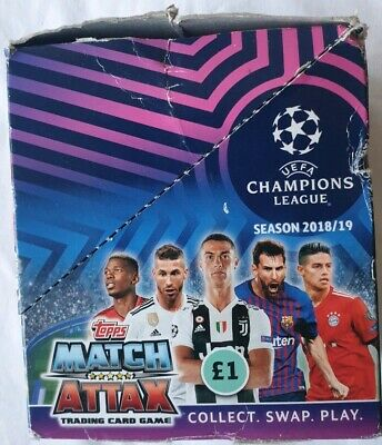 Topps Match Attax Champions League Cards  2018/19  box of 26 packets