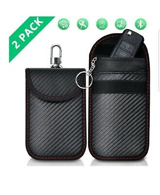 Faraday Bag for Car keys Lanpard Car Key Signal Blocker Pouch Case (2 Pack)...
