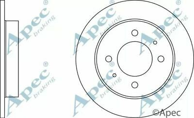 Brake Disc Pair Coated Solid Rear APEC DSK346 Replaces 5841129300,5841129310