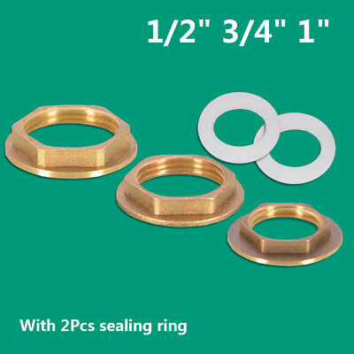 "Brass Flanged Back Nut Hex Tap Nuts 1/2"" 3/4"" 1"" BSP for Bathroom Kitchen Taps"
