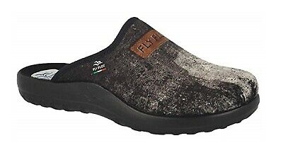 Fly Flot P8576 0D Nero Ciabatte Uomo Made in Italy Anatomiche ANTISHOCK Italy