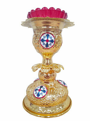Greek Orthodox Byzantine Style Vigil Oil Lamp Church Altar Proskomedia Candle