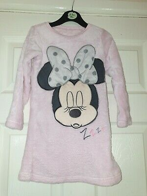 Girls Pink Fluffy Minnie Mouse Nighty Age 2-3 Years George